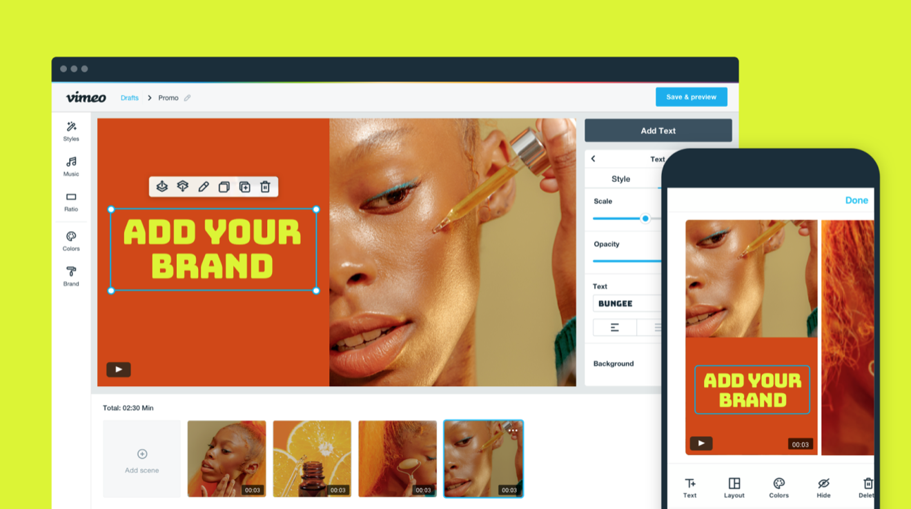 Vimeo Create for Video Email